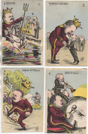 Illustrateur MILLE Belle Série De 6 Cartes Caricatures Sur La Visite D'EdouardVII En France Mai 1903 - Satirical