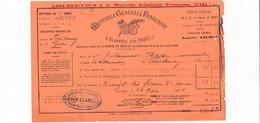 Facture Mutuelle Générale Française Agent D' Assurance GODIN GLANDON  à COURTENAY 45 Loiret - 1900 – 1949