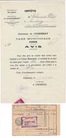 Facture Taxe Municipale Voirie ( Maire CHESNEAU ) à COURTENAY 45 Loiret - 1900 – 1949