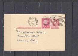 STATI UNITI  1957 -  Franklin + Jefferson Su Cartolina Per Italia - 1941-60