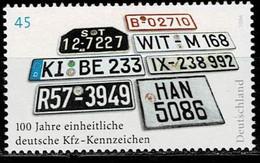 Bund 2006,Michel# 2551 ** 100 Jahre Kfz - Kennzeichen - Unused Stamps