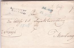 """Austria - 1848 - Forerunner From Gratz / Graz To Marburg / Maribor - """"Landrecht Zu Gratz"""" - ...-1850 Voorfilatelie"""