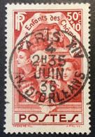 312 ° Paris XIV Av. D'Orléans Au Profit Des Enfants De Chômeurs 4/6/1936 Oblitéré - 1921-1960: Periodo Moderno