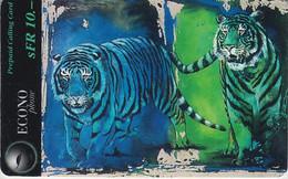 SWITZERLAND - PHONE CARD - PRÉPAYÉE ***  CIRQUE KNIE & 2 TIGRES *** - Jungle