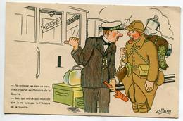 """ILLUSTRATEUR SPAHN  Chef De Gare Et Militaire  """" ..que Je Ne Suis Pas Le Ministre De La Guere ? """" 1940 écrite  ID15 2021 - Andere Illustrators"""