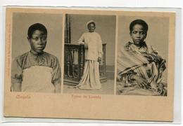 ANGOLA Typos De LOANDA Portraitts Jeunes Filles Et Jeune Garcon 1900 Edit Osorio Delgado   D15 2021 - Angola