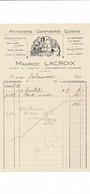 Facture Illustrée Patisserie Confiserie MAURICE LACROIX  à  COURTENAY 45 Loiret - 1900 – 1949