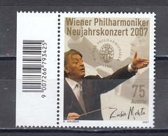 Austria 2007 - Zubin Metha, Indischer Dirigent, Mi-Nr. 2630, MNH** - 2001-10 Nuevos & Fijasellos