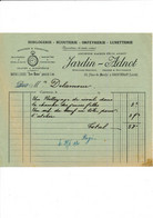 Facture Illustrée Montre Gousset Horlogerie Bijouterie JARDIN ADNOT   à  COURTENAY 45 Loiret - 1900 – 1949