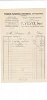 Facture Tolerie ( Melzessard ) VILVET  à  COURTENAY 45 Loiret - 1900 – 1949