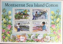 Montserrat 1985 Sea Island Cotton Minisheet Specimen MNH - Ohne Zuordnung