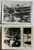 2 Photographies Anciennes Manège Pour Enfants Avec Hélicoptère Fête Foraine - Altri