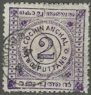 Cochin(India). 1902-3 Definitives. 2put Used SG 19 - Cochin
