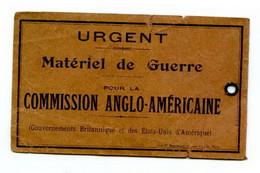 Etiquette Militaire - Materiel De Guerre - Military Label - War Material - Andere