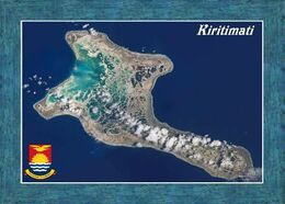 Kiribati Christmas Island Satellite View New Postcard - Kiribati