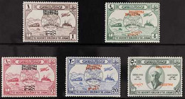 """OCCUPATION OF PALESTINE 1949 UPU Set, Variety """"OVERPRINTED DOUBLE, BOTH INVERTED"""", SG P30e, P31d & P32c (P33 & P34 Unlis - Giordania"""