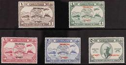 "OCCUPATION OF PALESTINE 1949 UPU Set, Variety ""INVERTED OVERPRINTS"", SG P30a, P31b, P32a, P33b & P34b, Fine Mint (5 Stam - Giordania"