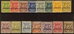 """1896 QV Defins, Complete Set Overprinted """"SPECIMEN,"""" SG 65s/79s, Good To Fine Mint (15 Stamps). For More Images, Please  - Vide"""
