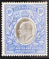1903-04 10r Grey & Ultramarine KEVII Wmk Crown CC On Chalk-surfaced Paper, SG 14a, Fine Mint, Light Hinge Remnant, Lovel - Vide