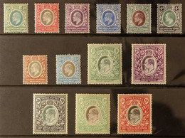 1904-07 KEVII Complete Set To 5r, SG 17/30, Mint, 5r With A Few Shortish Perfs At Top Left. (13 Stamps) For More Images, - Vide