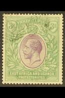 1921 (wmk Mult Script CA) KGV 3R Violet And Green, SG 73, Used With Neat Light Squared Circle Cancel, Small Thin In Top  - Vide