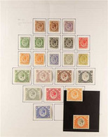 1922-27 Definitive Set Complete To £1, SG 76/95, With Additional Shades Of 1c And 20c, Neatly Displayed On An Album Page - Vide