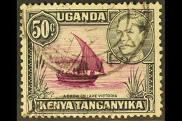 1938 50c Purple And Black, Rope Not Joined To Sail, SG 144a, Fine Cds Used. For More Images, Please Visit Http://www.sa - Vide