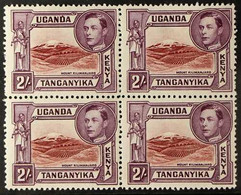 1938-54 2s Lake-brown & Brown-purple Perf 14, SG 146a, Fine Mint BLOCK Of 4, Very Fresh. (4 Stamps) For More Images, Ple - Vide