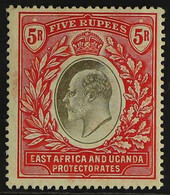 EAST AFRICA AND UGANDA PROTECTORATES 1904-07 5r Grey And Red, SG 30, Fine Mint. For More Images, Please Visit Http://ww - Vide