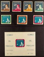 1961 Alan B Shepard Set And Miniature Sheet IMPERF, Mi 979/85 & Mi Block 13 (Scott 610/16 & 616a), Never Hinged Mint (7  - Paraguay