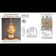 FDC JF - Charlemagne, Roi Des Francs, Oblit 10/4/2015 Noyon - 2010-....