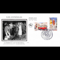 FDC Soie - Les Années 60, Loisirs Et Automobile, Oblit 12/6/2015 Paris - 2010-....