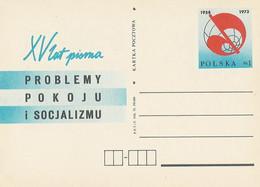Poland Postcard Cp 582: Press Problems Of Peace And Socialism - Enteros Postales