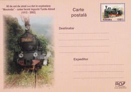 A8368- TRAIN RAILWAY TURDA-ABRUD 1912-2002, MOCANITA POSTAL STATIONERY ROMANIAN POSTAGE UNUSED - Entiers Postaux