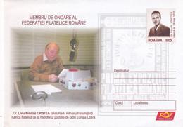 A8370- DR.LIVIU CRISTEA, MEMBER OF ROMANIAN PHYLATELIC FEDERATION POSTAL STATIONERY UNUSED ROMANIAN POSTAGE - Entiers Postaux