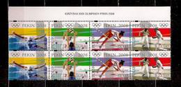 POLAND 2008 OLIMPIC GAMES In PEKING Set BLOCK Of 8 N MNH - Ongebruikt