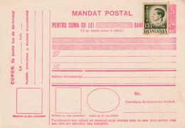A8372-  POSTAL MANDATE ROMANIA KING MIHAI I OF ROMANIA POSTAL STATIONERY UNUSED - Entiers Postaux