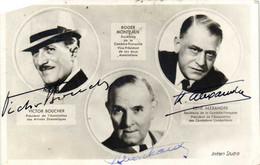 Autographes VICTOR BOUCHR  ROGER MONTJEAUX  RENE ALESXANDRE RV - Other