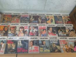 Lot De 24 Livres San Antonio - Fleuve Noir - Années 1967 à 1970 - San Antonio