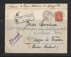 1906 HEIMAT ZÜRICH → Reco-Briefumschlag Zürich (Selnau) Nach Versam / Safiental GR    ►SBK-86A◄ - Covers & Documents