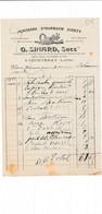 Facture Illustrée Ancienne Pharmacie Berty SINARD  à  COURTENAY 45 Loiret - 1900 – 1949