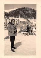 """2200 """"FOTO-ELICOTTERO AGUSTA BELL 47 G IN RIFORNIMENTO MONGINEVRO ANNI 1956 """" MISURE(7.00x11.50) - Aviation"""