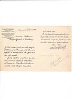 Facture  Géomètre Expert MOUTARDIER  à  COURTENAY 45 Loiret - 1900 – 1949