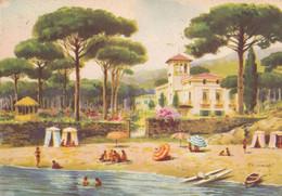 Porto D' Ischia - Grand Hotel Excelsior - 1957 - Illustrazione - Napoli (Naples)