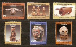 Congo 2002 OBCn° 2099-2104 *** MNH Cote 13,00 Euro Masques Maskers - Nuevos