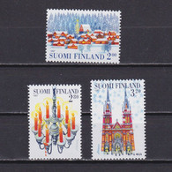 FINLAND 1997, Sc# 1062-1064, Christmas, Architecture, Church, MNH - Unclassified