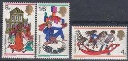 1967 Great Britain, XMAS Complete Set 3 Values MNH - British Indian Ocean Territory (BIOT)