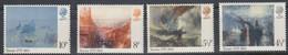 1973 Great Britain, Turner Paintings Complete Set 4 Values MNH - British Indian Ocean Territory (BIOT)