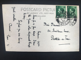 GB Edward VIII 1936 Postcard With First Day Postmarks From Leyburn Yorkshire - Covers & Documents