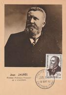 Jean JAURES - Homme Politique Français Né à Castres - 1er Jour - 1950-59